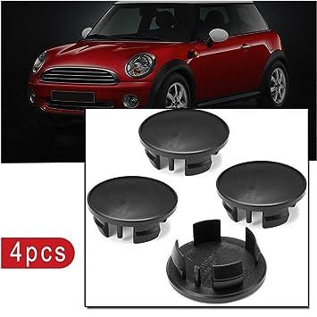 RUNGAO 4 piezas 54 mm negro ABS coche emblema insignia llanta centro Hub tapas para Mini Cooper: Amazon.es: Coche y moto