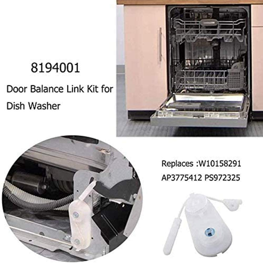 Compatible with 8194001 Door Balance Link Kit 8194001 Dishwasher Door Balance Kit Replacement for Kenmore//Sears 66513793K600 Dishwasher UpStart Components Brand