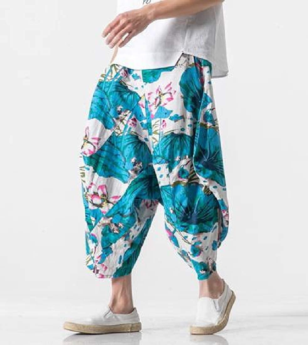 Winwinus Mens Plus-Size Printing Chinese Style Comfy Hip Hop Casual Trousers