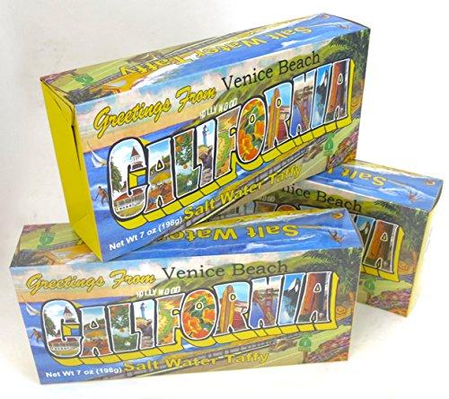 Venice Beach Salt water taffy candy souvenir gift. 3 box - Beach Salt Venice