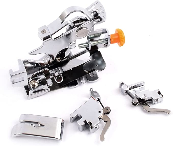 Máquina de coser pie con Ruffler y adaptador para bajo y alto ...