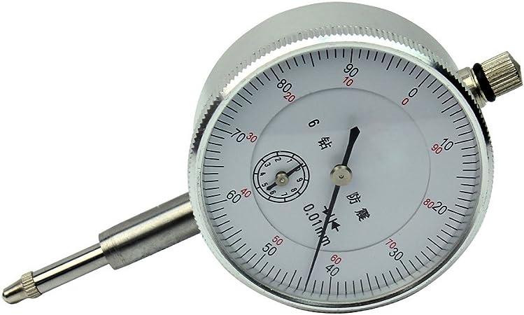 Indicateur /à cadran comparateur outil de mesure indicateur de cadran antichoc pr/écision de 0,01 mm indicateur m/écanique plage de 0 /à 10 mm conception de moletage