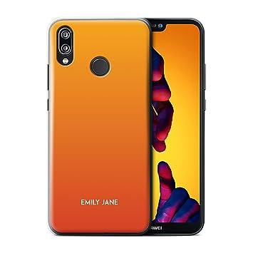 reasonably priced half price huge discount Stuff4 Personnalisé Couleurs Ombre Coutume Coque pour Huawei P20  Lite/Orange d'été Design/Initiales/Nom/Texte Etui/Housse/Case