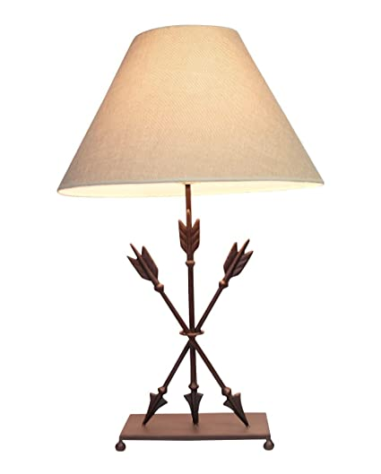Cast Iron Table Lamps Cast Iron Old West Style Triple Arrows Table Lamp 26  Inches High