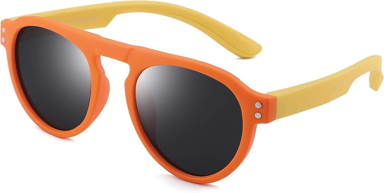 JM Kids Polarized Sunglasses Unbreakable Rubber Frame Children Girls Boys Age 3-6