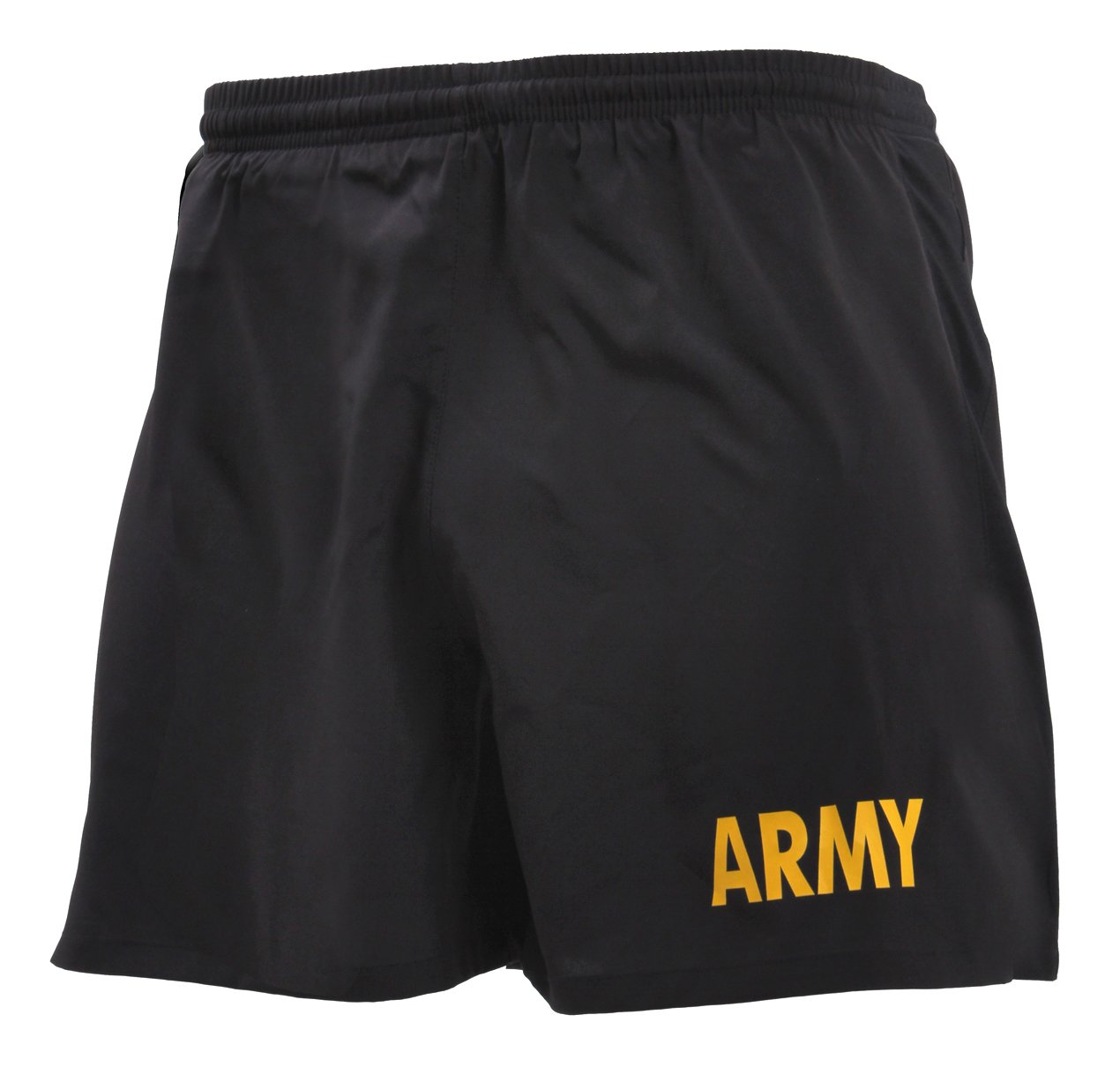 Rothco Army Physical Training Shorts, XS Black/Gold by Rothco