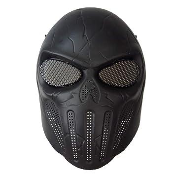 KINGEE®Máscara De Airsoft De Cráneo De Cara Completa, Equipo De Protección De CS