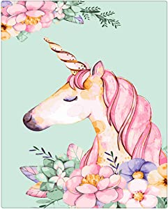 Sonby Paint by Numbers Canvas Paints Brushes Kits for PBN Fan, Unicorn Acrylic Painting by Numbers for Home Wall Décor,Unframed 16x20