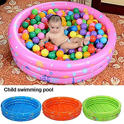 Kitcheb Inflatable Pool Baby Inflatable Swimming Pool Thickened Kids Inflatable Pool Ball Pit 3-Ring Inflatable Pool Bathtub for Children Boys Girls: Home & Kitchen