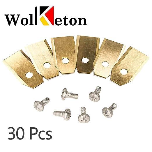 30 piezas Cuchillas para cortacéspedes - 0.75mm Cuchillas de ...