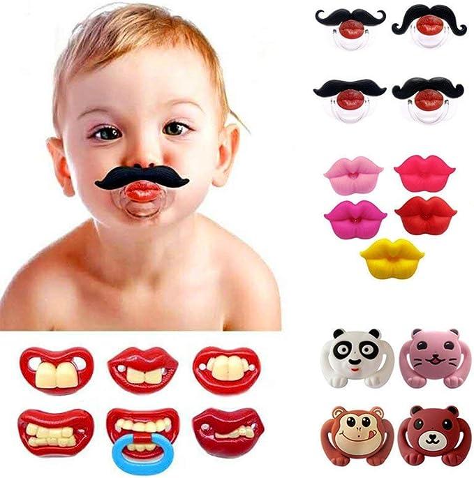 Silicone Sucette Moustache sans BPA pour Nourrisson Nouveau-N/é Xrten T/étine moustache