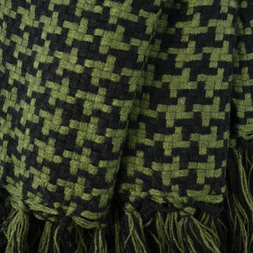 La77 lightweight plaid square scarf