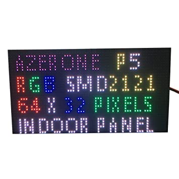 P5 indoor full color led display panel 64x32 pixel 320mm x 160mm size 1/16  scan smd 2in1 two in one 5mm rgb board p5 led module