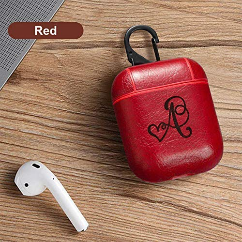 Amazon Com Airpods Pu Leather Case With Personalized Initial