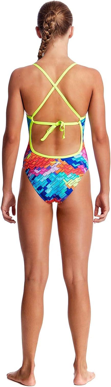 Funkita Girls Tie Me Tight One Piece Layer Cake Swimsuit AUS 8//140