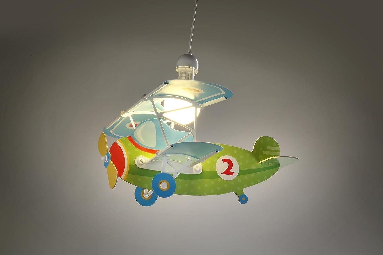Kinderzimmer-Lampe Flieger Hänge-Lampe 54022 mit LED kaltweiß 1400lm ...