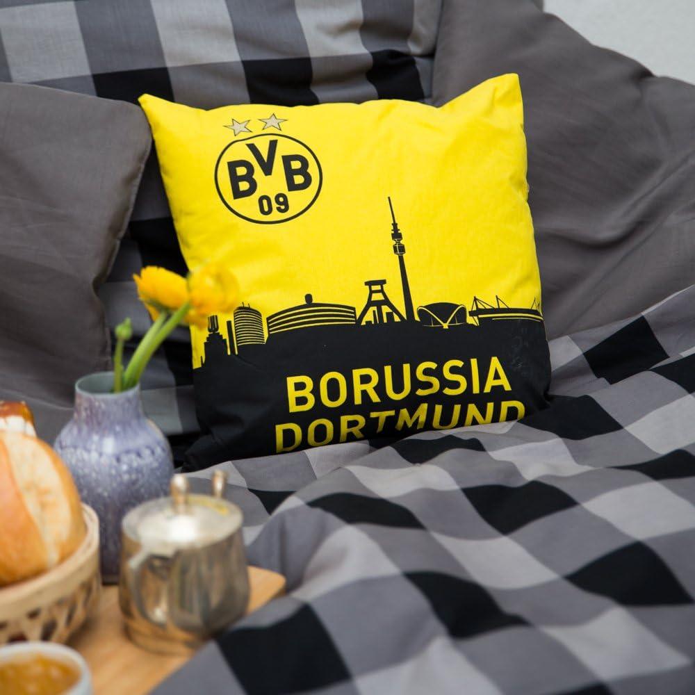 Cuscino nero-giallo, Borussia Dortmund Fan Shop Calcio mastica.pe