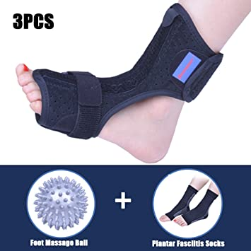 74fc3040a69e5 Plantar Fasciitis Dorsal Night Splint for Heel Pain Relief -Foot Drop  Orthotic Brace for Sleep Support with...