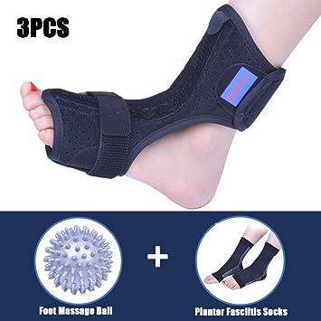 9b5b2ffd24 Plantar Fasciitis Dorsal Night Splint for Heel Pain Relief -Foot Drop  Orthotic Brace for Sleep