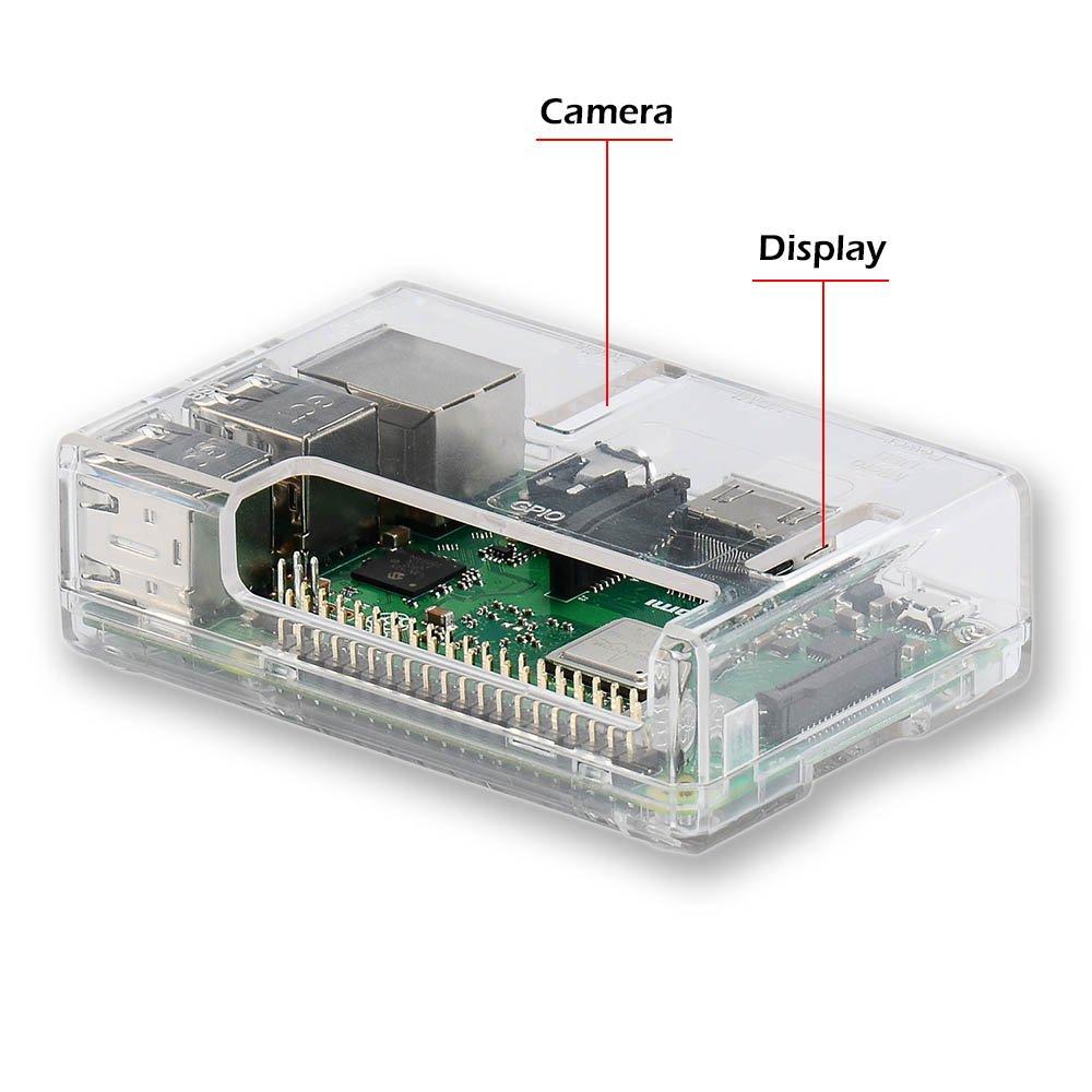 Raspberry Pi 3 b+ Case, iUniker Raspberry Pi 3 Model B+ Transparent Case with Raspberry Pi Heatsink for Raspberry Pi 3B+, 3B, 2B - Access to All Ports (Clear) by iUniker (Image #4)