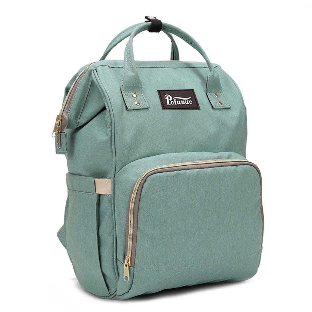 Liraly Mummy Bag Nappy Bag Large Capacity Baby Bag Travel Backpack Desiger Nursing Bag (Mint Green)
