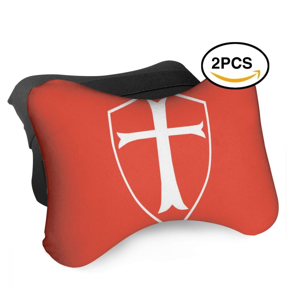 Tonhhuids TEMPLAR SHIELD Christian KnightPack Of 2 Car Neck Pillow by Tonhhuids