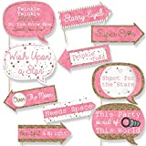 Funny Pink Twinkle Twinkle Little Star - Baby Shower or Birthday Party Photo Booth Props Kit - 10 Piece