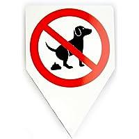 """Panneau chien koten interdite """"20 x 30 cm"""""""