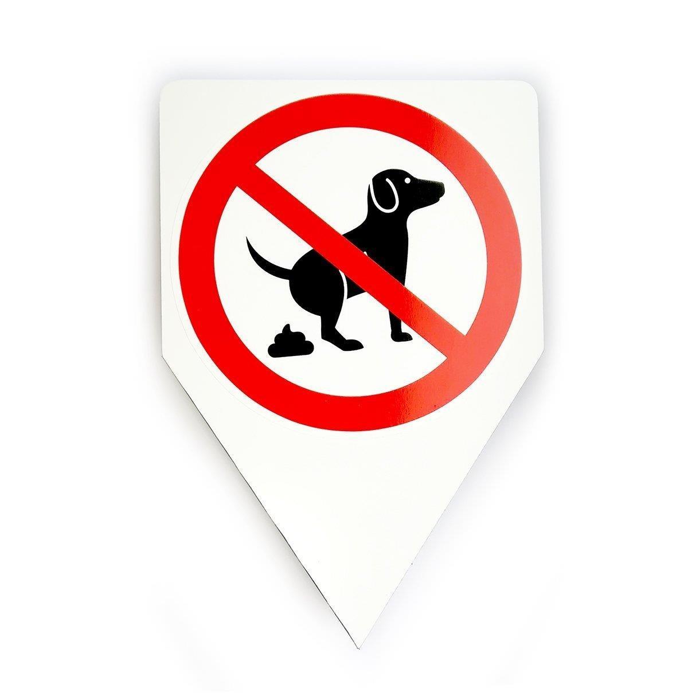 Panneau chien koten interdite '20 x 30 cm', article 036 easydruck24de