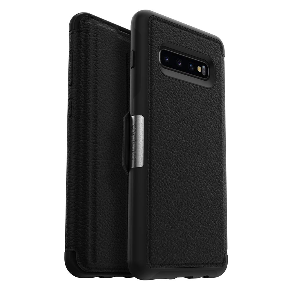 OtterBox STRADA SERIES Case for Galaxy S10+ - Retail Packaging - SHADOW (BLACK/PEWTER)