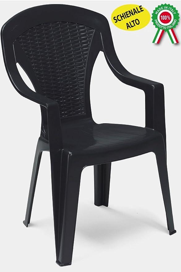 Sedie Di Plastica Impilabili.Savino Filippo Poltrona Sedia Arona In Dura Resina Di Plastica