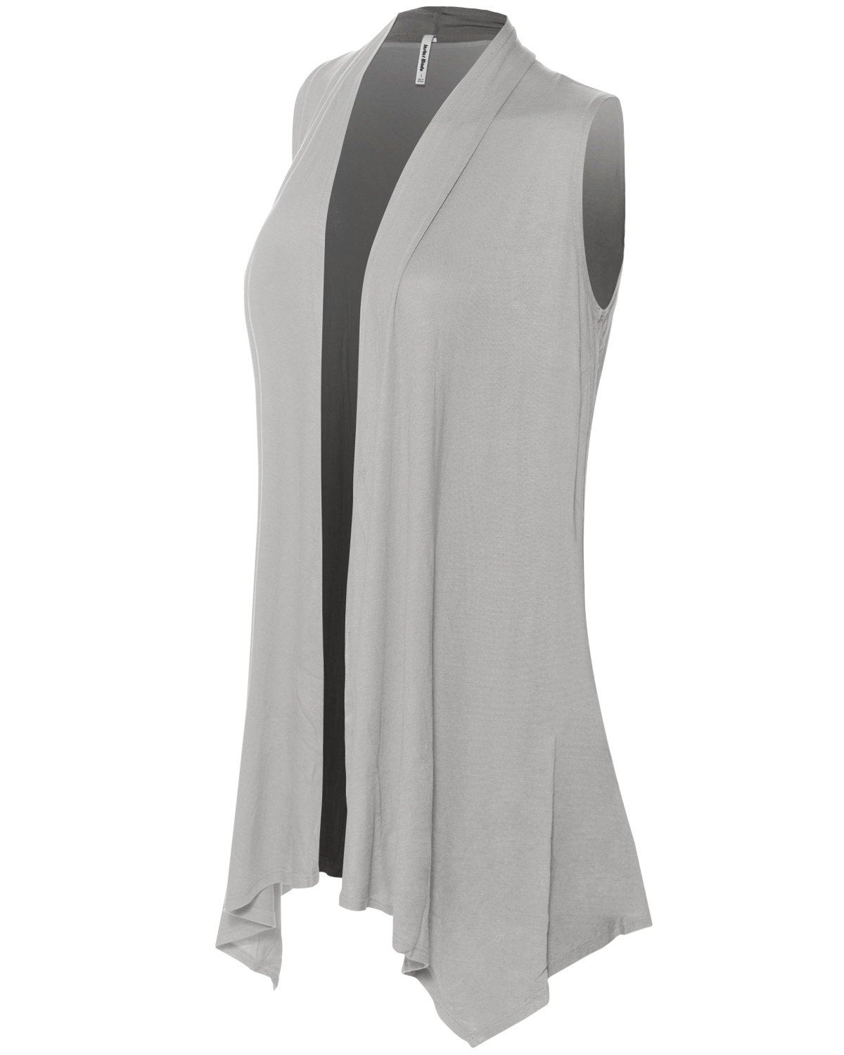 Instar Mode Women's Lightweight Sleeveless Draped Open Front Cardigan Vest