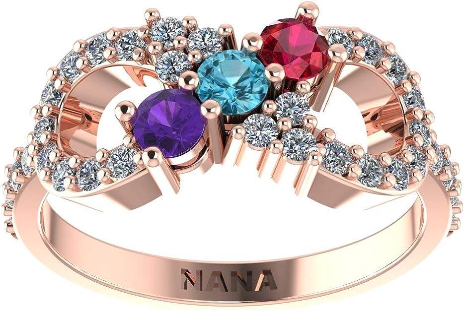 Mother/'s ringBirthstone ringCustom mothers ringRaw gemstone ringStatement ringMulti stone ringBoho ringBirthday Gift for her