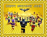 The lego batman movie Edible Cake Topper - 10'' x 16'' (1/2 sheet) rectangular