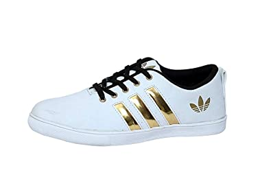 Sbm Mens White Gold Casual Shoes Buy Online At Low Prices In