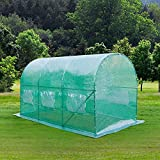 VINGLI 12x7x7 Ft Walk-in Outdoor Greenhouse Large Plant Gardening Hot House Flower Tent Commercial Home Backyard Canopy with Vents