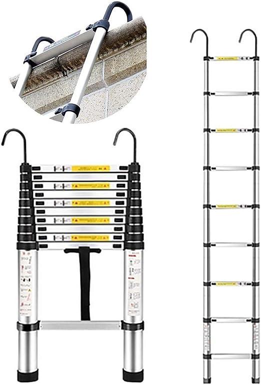 Escalera telescópica Escalera de extensión telescópica de Aluminio ...