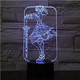 Fate Grand Order Saber Fate Stay Night Lampara 3D LED DIYナイトライトキャラクターグッズテーブルランプ