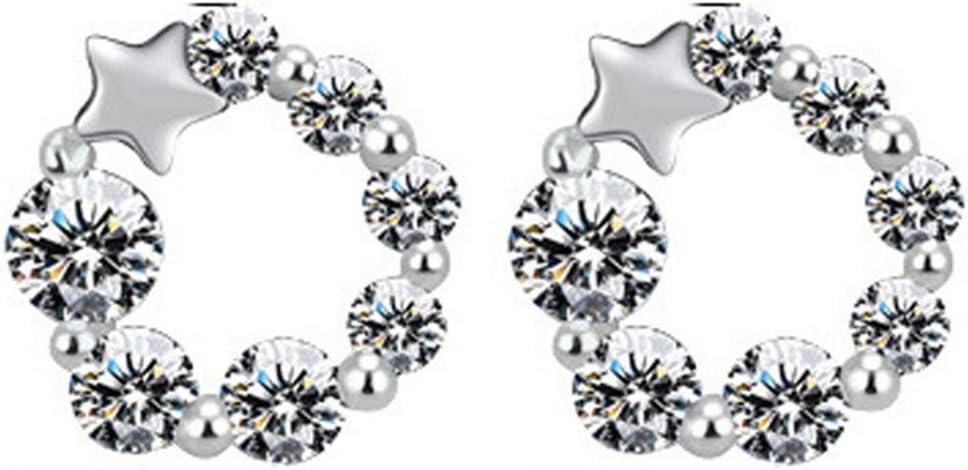 nikgic brillante estrella Pendientes diamante Stud Pendientes brillantes pendientes en plata de ley joyas