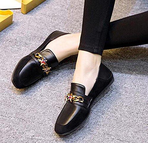 diamante de 2 EU38 5 de Zapatos de zapatos CN38 KUKI Carrefour US7 planos zapatos mujer gamuza 5 informal UK5 vq551