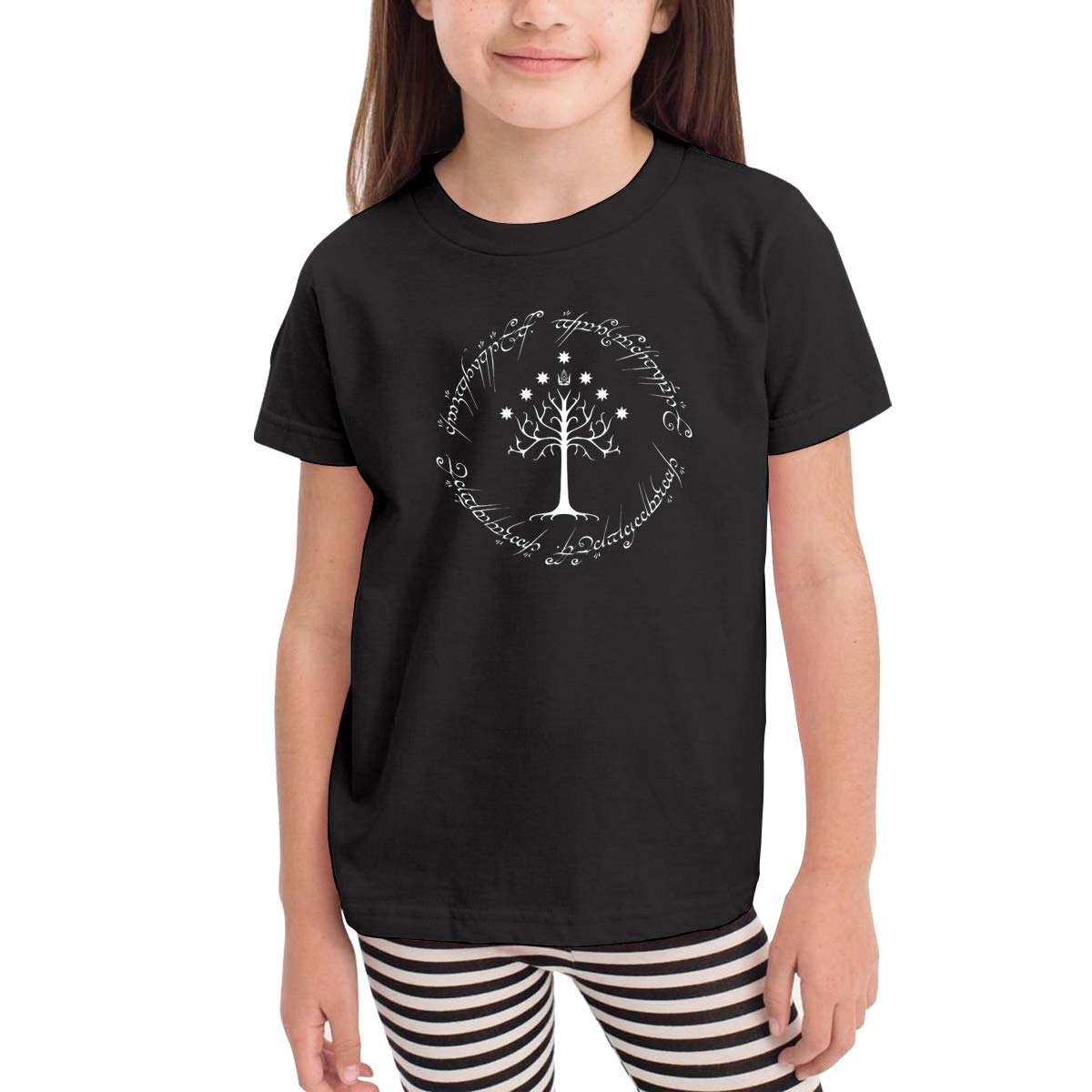White Tree of Gondor Ring King 100/% Cotton Toddler Baby Boys Girls Kids Short Sleeve T Shirt Top Tee Clothes 2-6 T