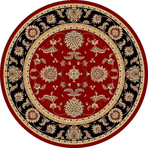 KAS Oriental Rugs Cambridge Collection Bijar Round Area Rug, 7' x 7