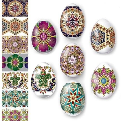 Pysanky Eggs - Egg Wraps - Easter Eggs - Heat Shrink Sleeve - Patterns -