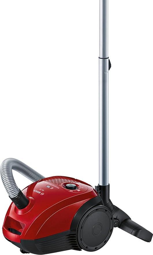 Bosch GL-20 Aspirador con bolsa compacto, 600 W, 3.5 litros, 80 Decibelios, Rojo