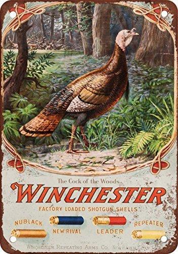 Replica Tin - 1905 Winchester Shotgun Shells Vintage Look Reproduction Metal Tin Sign 8X12 Inches