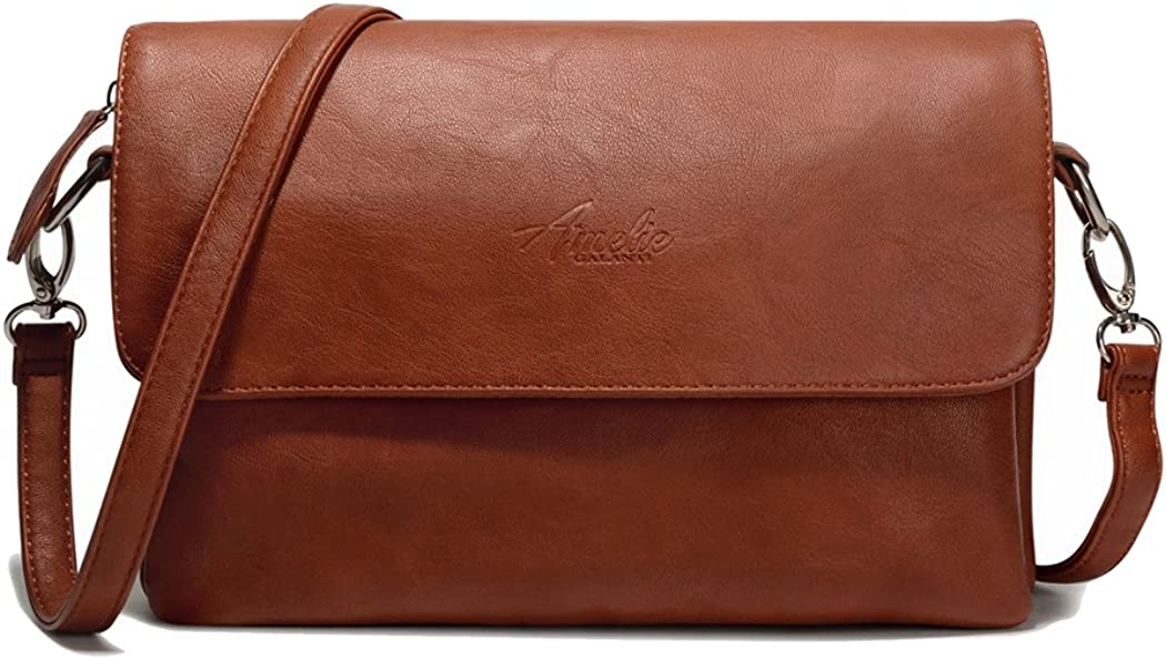 women Cross body Messenger Bag Multi Pockets Adjustable Long Strap Handbag