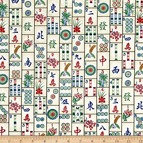 Timeless Treasures 0459386 Tiles Mahjong Fabric by The Yard