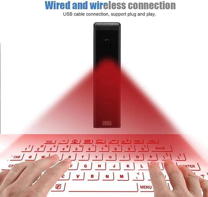 XMYL Proyector De Teclado Teclado Virtual Portátil Bluetooth ...
