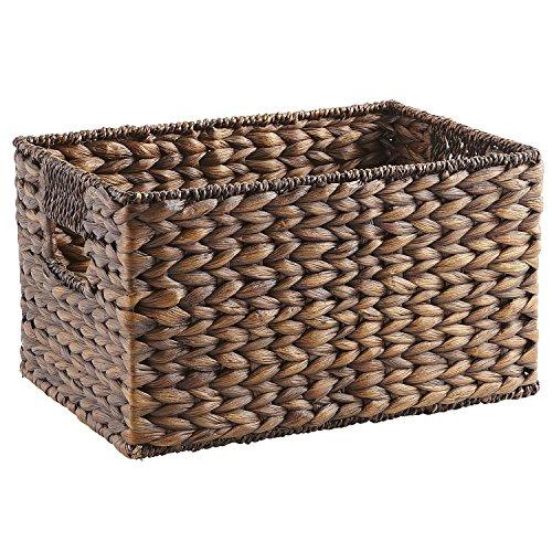 Pier 1 Imports Carson Espresso Brown Wicker Small Shelf Storage Baskets ()