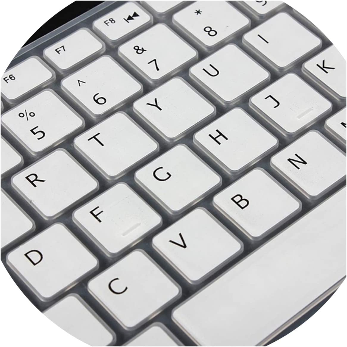 Durable Silicone US Version 15in Keyboard Cover Protector Skin Compatible for Dell 15C 15CR 15MD 5CD 15MR 15M 15UR 15U